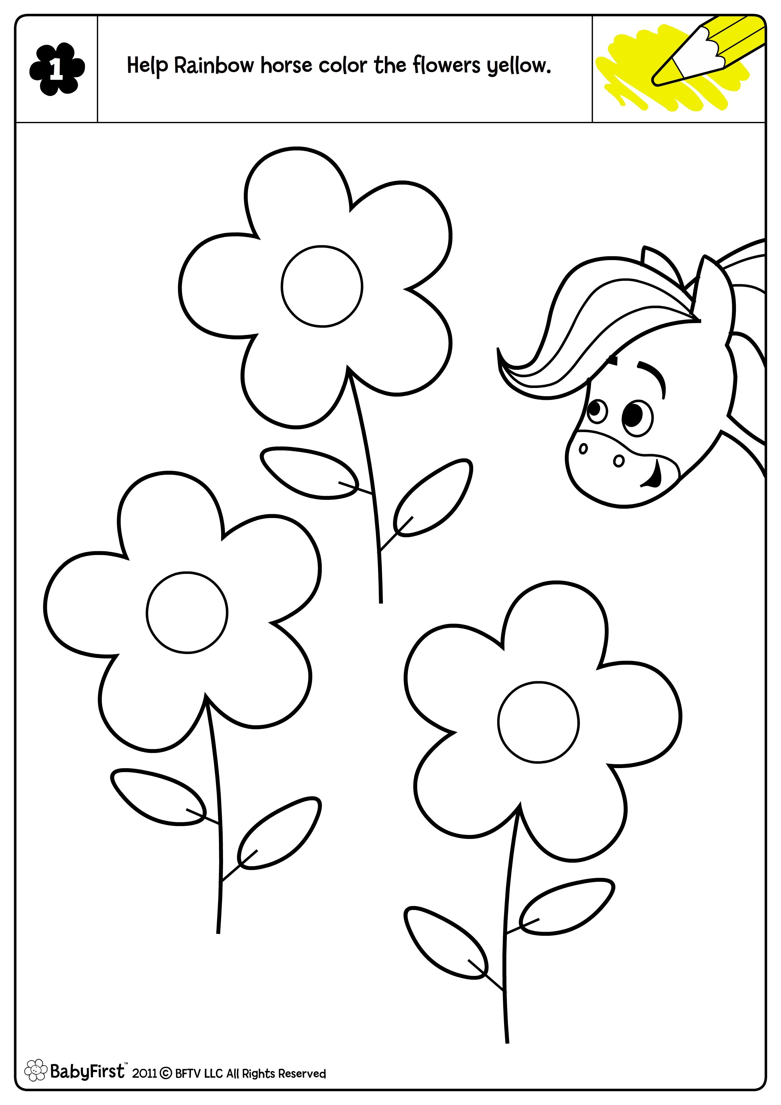 Rainbow Horse Coloring Pages