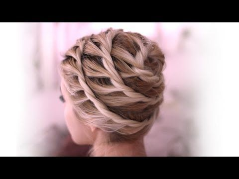 Trendy Spiral Updo Everyday Hairstyle For Medium Long Hair - Bun hairstyle games