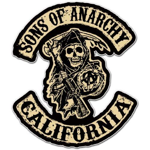 sons of anarchy california car bumper sticker decal 5x4 tv stuff rh pinterest com  sons of anarchy california logo