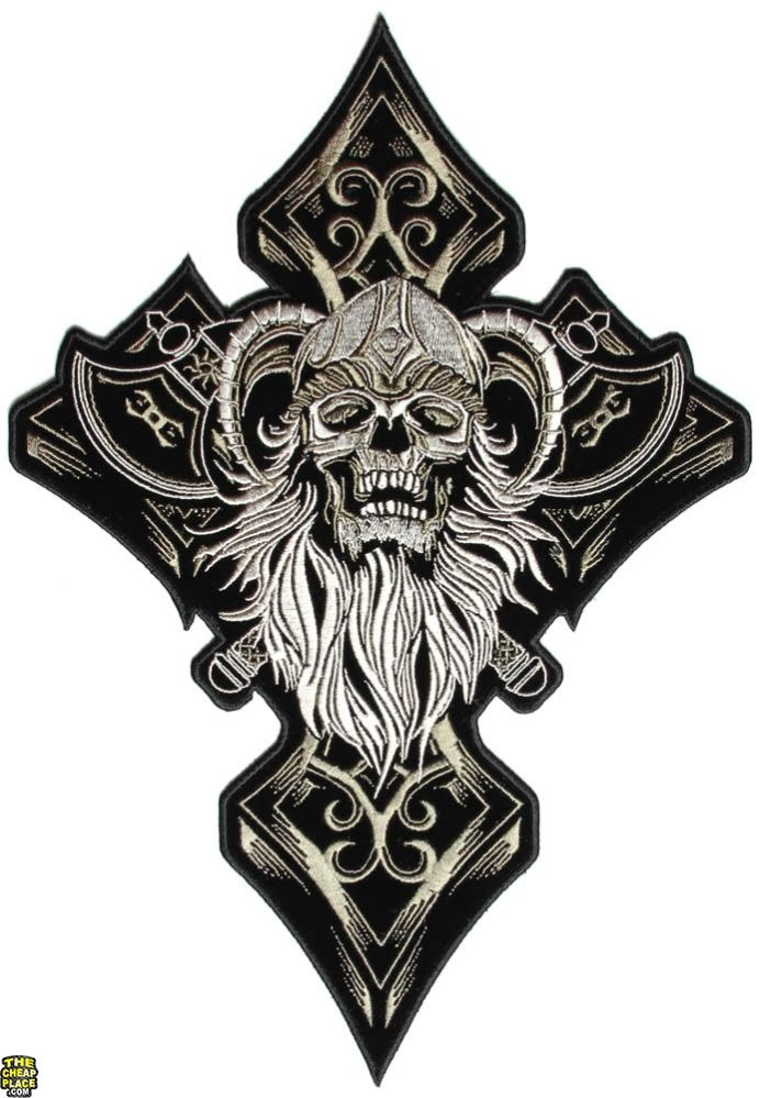 Celts Symbol of Wolf Embroidered Patch 10x6 cm