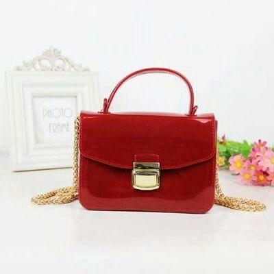 Furla Jelly Bag Portable Burgundy Pinknee