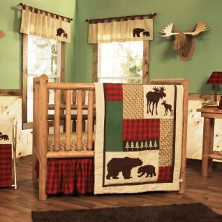 Give Your Nursery A Cozy Cabin Feel Printed And Appliqu 233 D