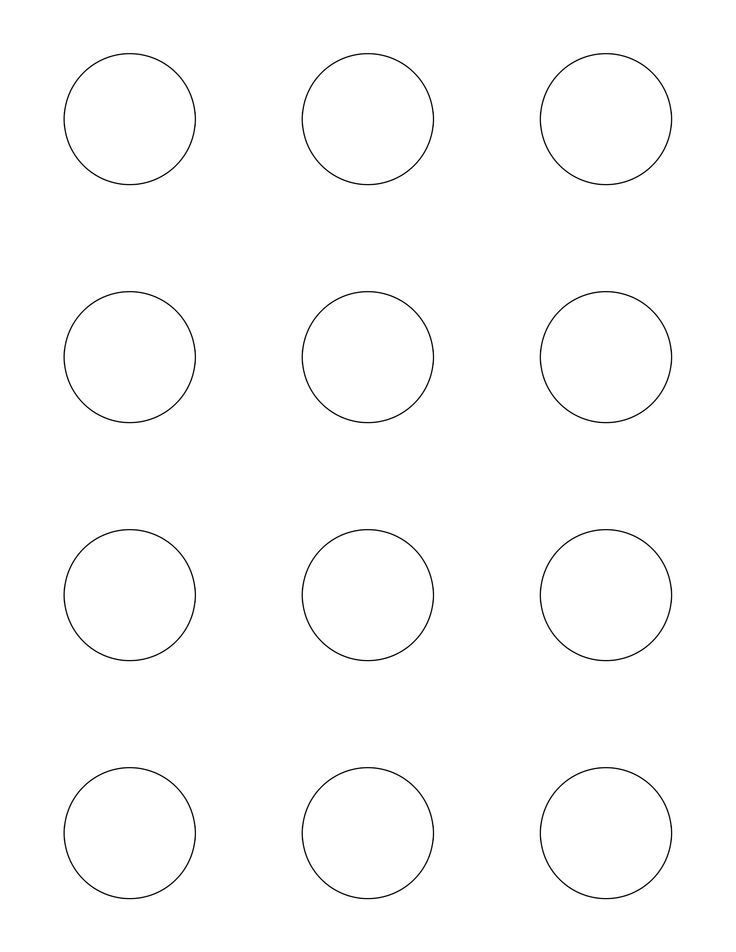 Macaron template. Print out and slide under parchment when