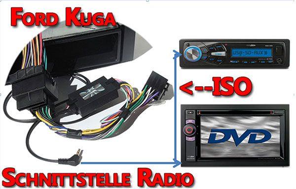 Ford Kuga Verbindungskabel Radio Lenkrad Adapter | Einbauanleitungen ...