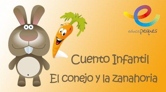 Dibujos Animados Texto Naranja: Cuentos Para Leer Cortos: El Conejo Y La Zanahoria