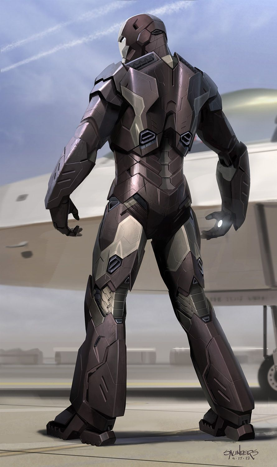 Iron Man becomes a guided missile, in stunning new concept art