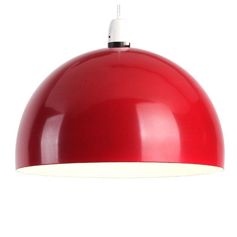 Energy Saving Retro Red Ceiling Light Shades   Value Lights, UK