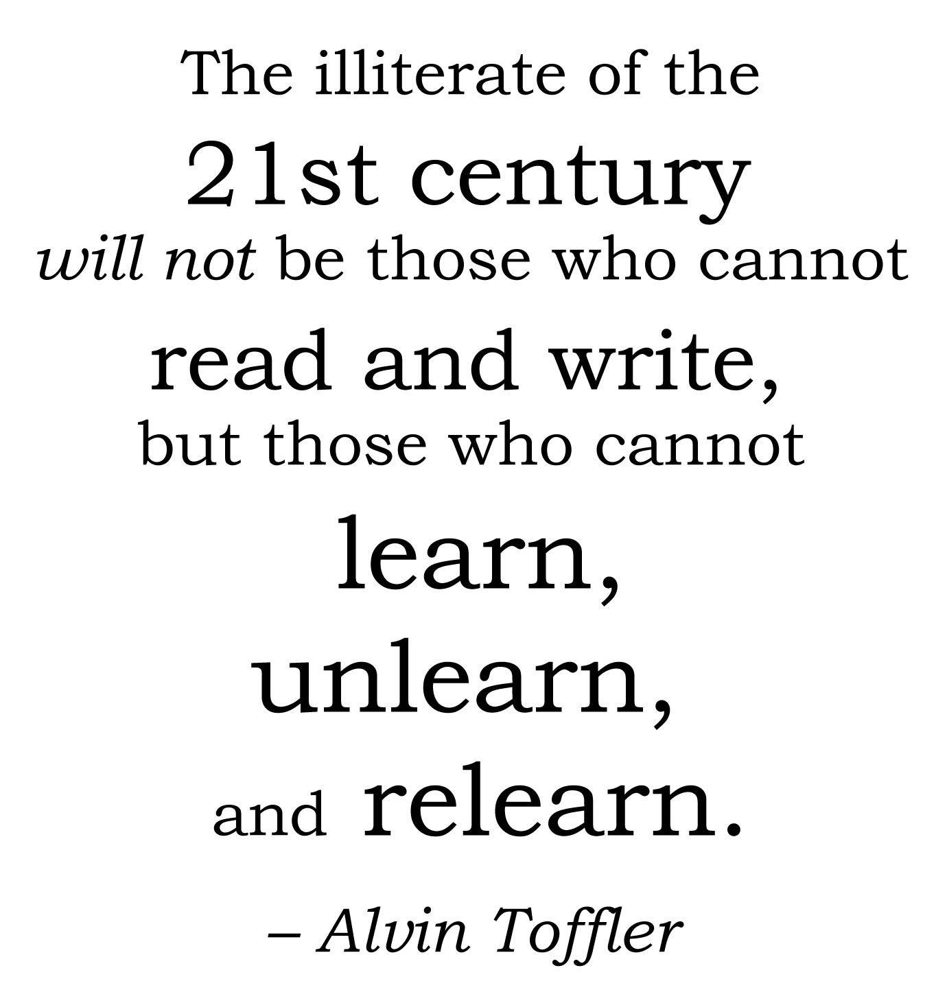 Educational Quote Toffler Appreciation Quotes Funny Inspirational Quotes Education Quotes