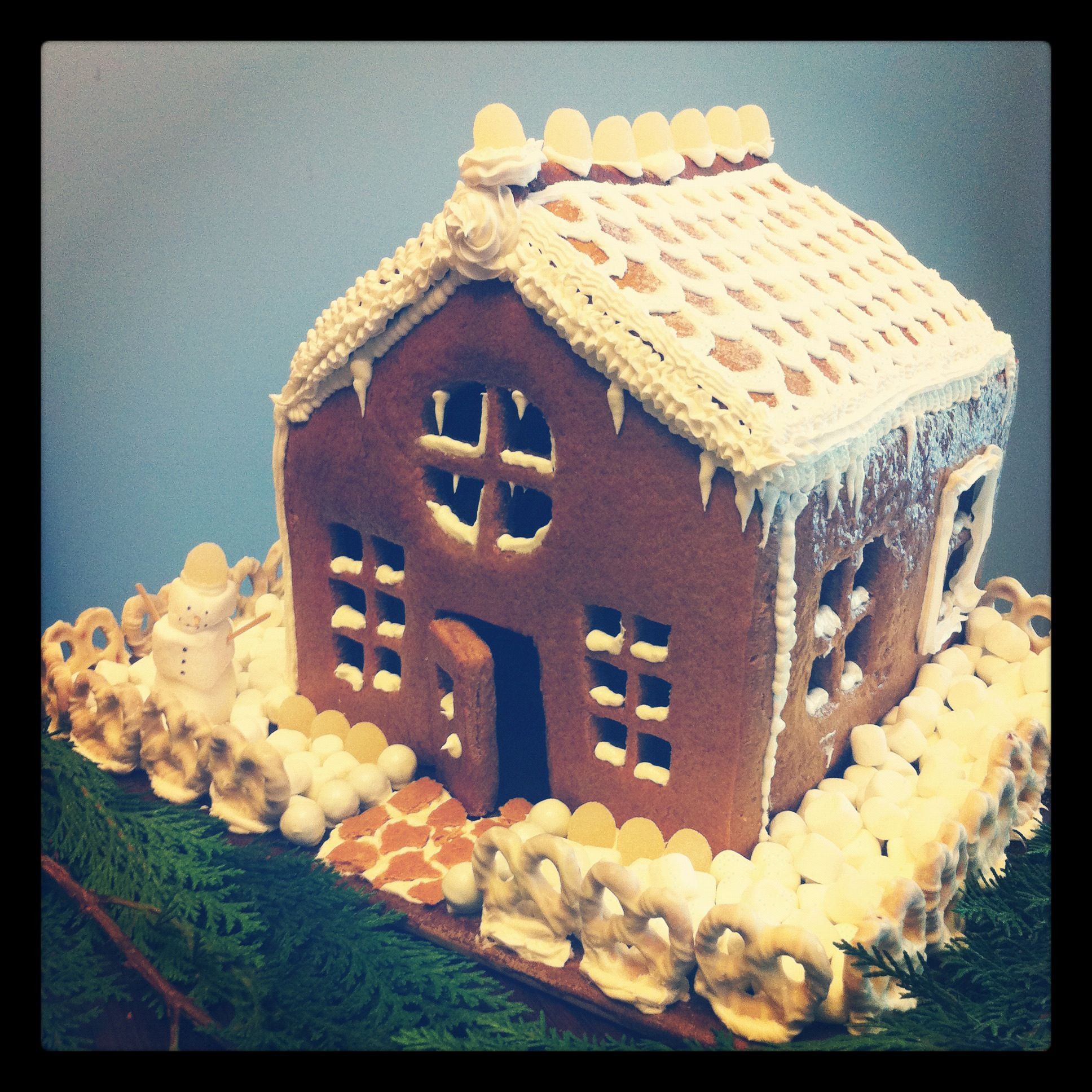 Gingerbread houses are a necessary craft at Christmas!
