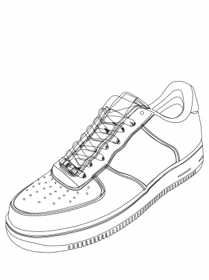 Shoe Coloring Sheet Sneakers Sketch Shoes Clipart Shoe Template
