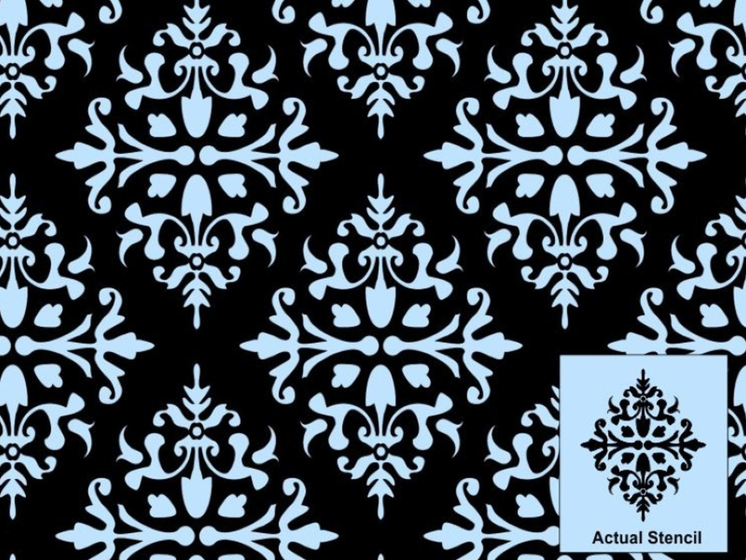 Arrah wall stencil painting stencil by simplyspringdesigns damask stencils for walls amipublicfo Choice Image