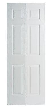 36 Inch X 78 6 Panel Textured Bifold Door