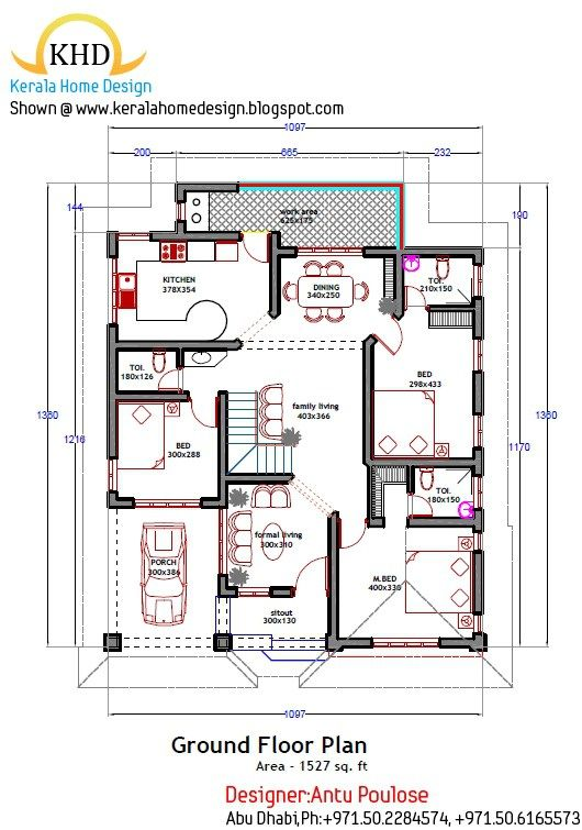Image result for kerala home design floor plan | sabu | Pinterest ...