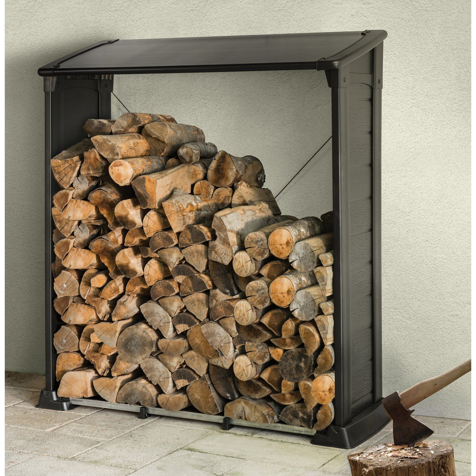 Keter Firewood Shelter Keep Your Firewood In Place And Safe From The Elements With The Keter Firewood Shelter This Durable Resin She Wood Firewood Wood Logs