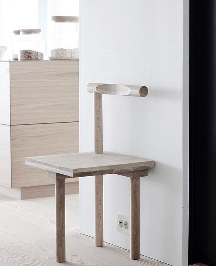 Sculptural Chair moved into a nice kitchen at @nordicleaves - thank you so much for sharing this image  #kristinadamstudio #regram #minimalism #sculptural