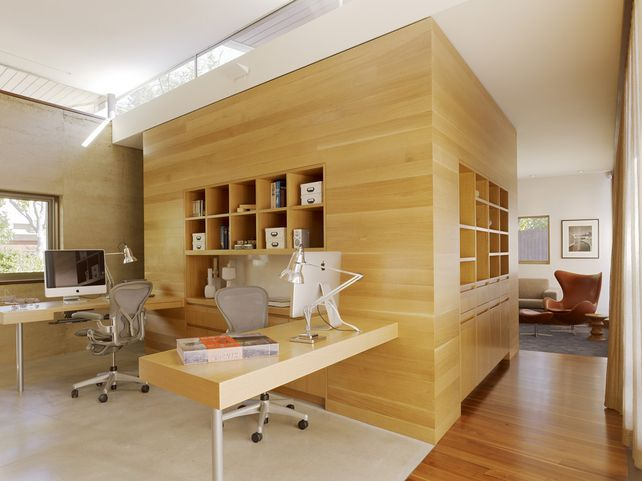 home office cool office. Home Office Shared Desk Idea Modern. Designs With Cool Furniture And Smart Space D