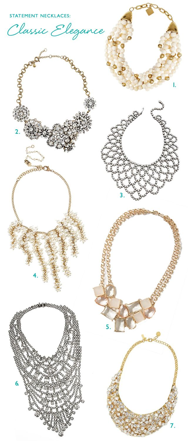 Wedding Style Statement Necklaces