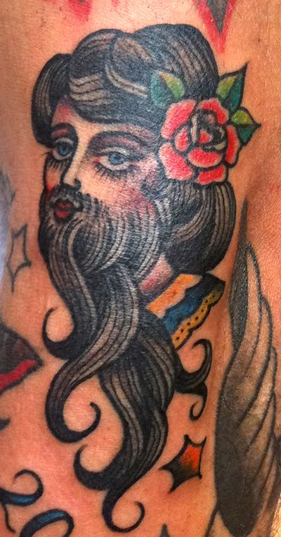 Bearded Lady Circus Tattoo Traditional Tattoo Body Art Tattoos