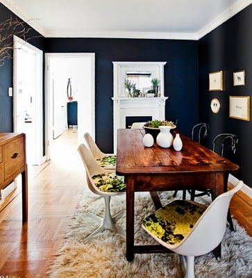 Sfgirlbybays Beautiful Home Via Rue Magazine She Used Chalkboard - Chalkboard accents dining rooms
