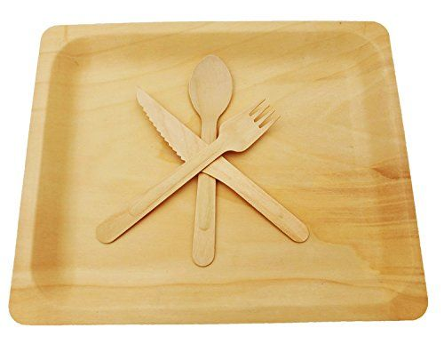 Wooden Disposable Cutlery Kit of 50 Plates(10.5 inch)50 Forks 50  sc 1 st  Pinterest & Wooden Disposable Cutlery Kit of 50 Plates(10.5 inch)50 Forks 50 ...