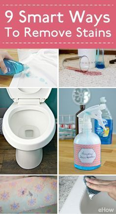 How to's : Stains make everything look and feel dirtier than they are. So get rid of those with these simple solutions and you're home will instantly feel cleaner! Plus, these solutions are cheaper to DIY than buying them at the store. Win, win!