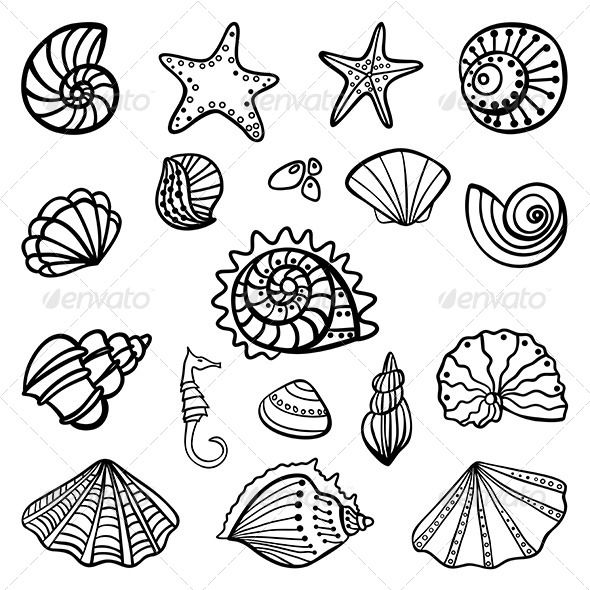Set Consists Of 18 Msrine Objects Icluded Files Eps10 100 Scalable And High Resolution Pixels Rgb Jpeg Imag Coloring Pages Coloring Books Free Coloring Pages
