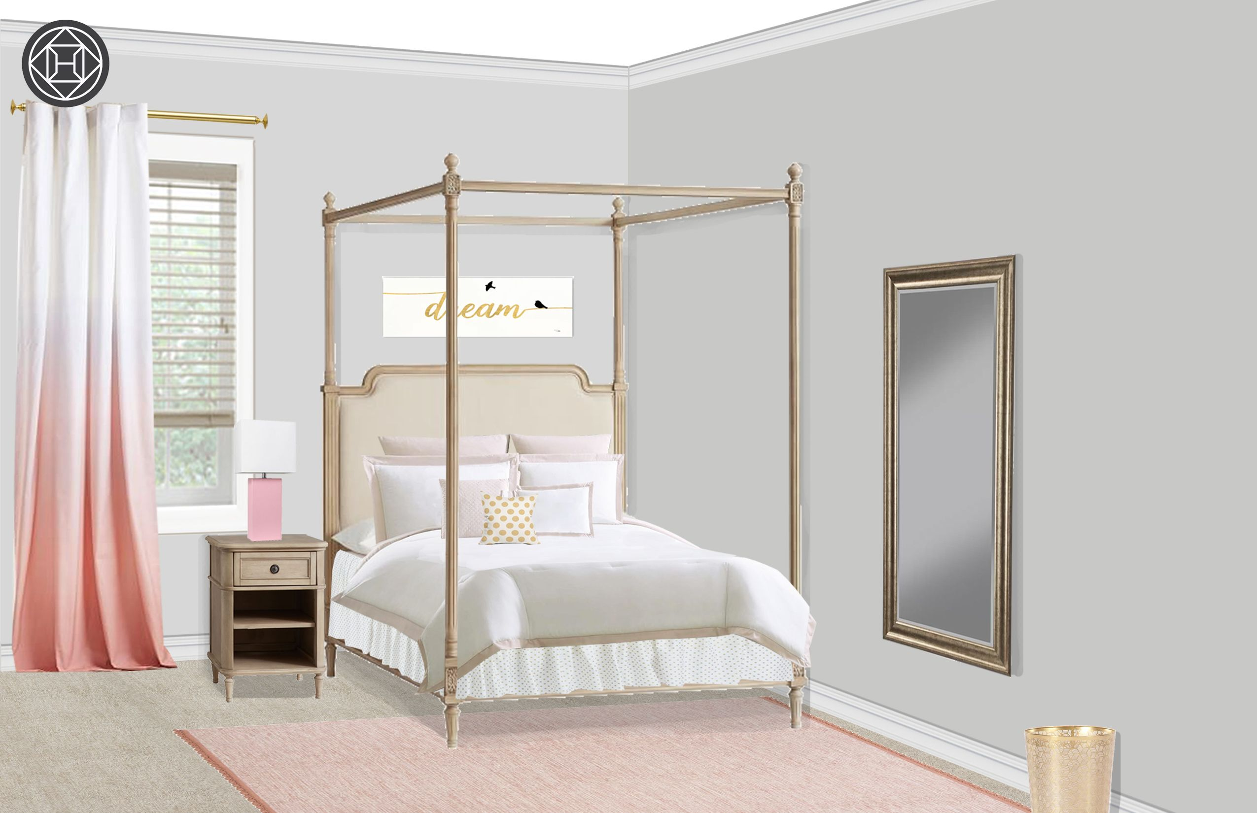 Classic, Preppy Bedroom Design by Havenly Interior ...