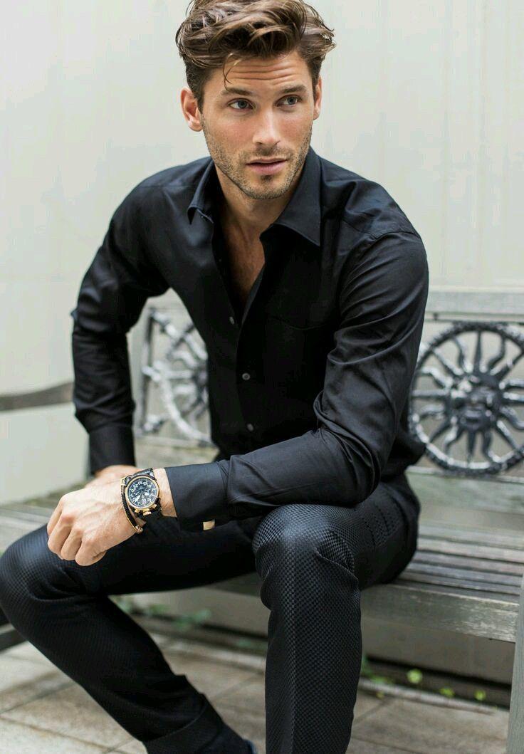 Black Dress A Pants Trouser Black Shirt Mens Fashion Menswear Mens Outfit For Spring Summer Moda Masculina Shop At Designerclothingfans Com