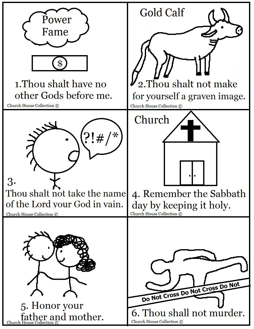 Influential image throughout ten commandments printable activities