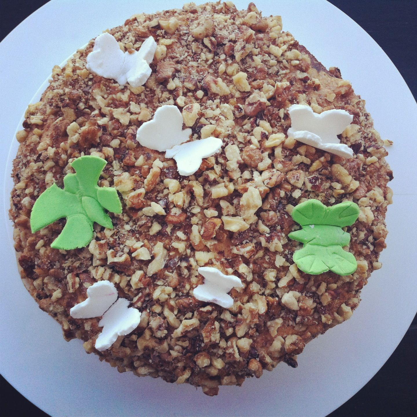 Cake with nuts cake chef nuts