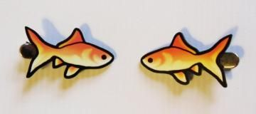 Goldfish Hairclips -- 3 Pairs Left by nomlegion for $8.00