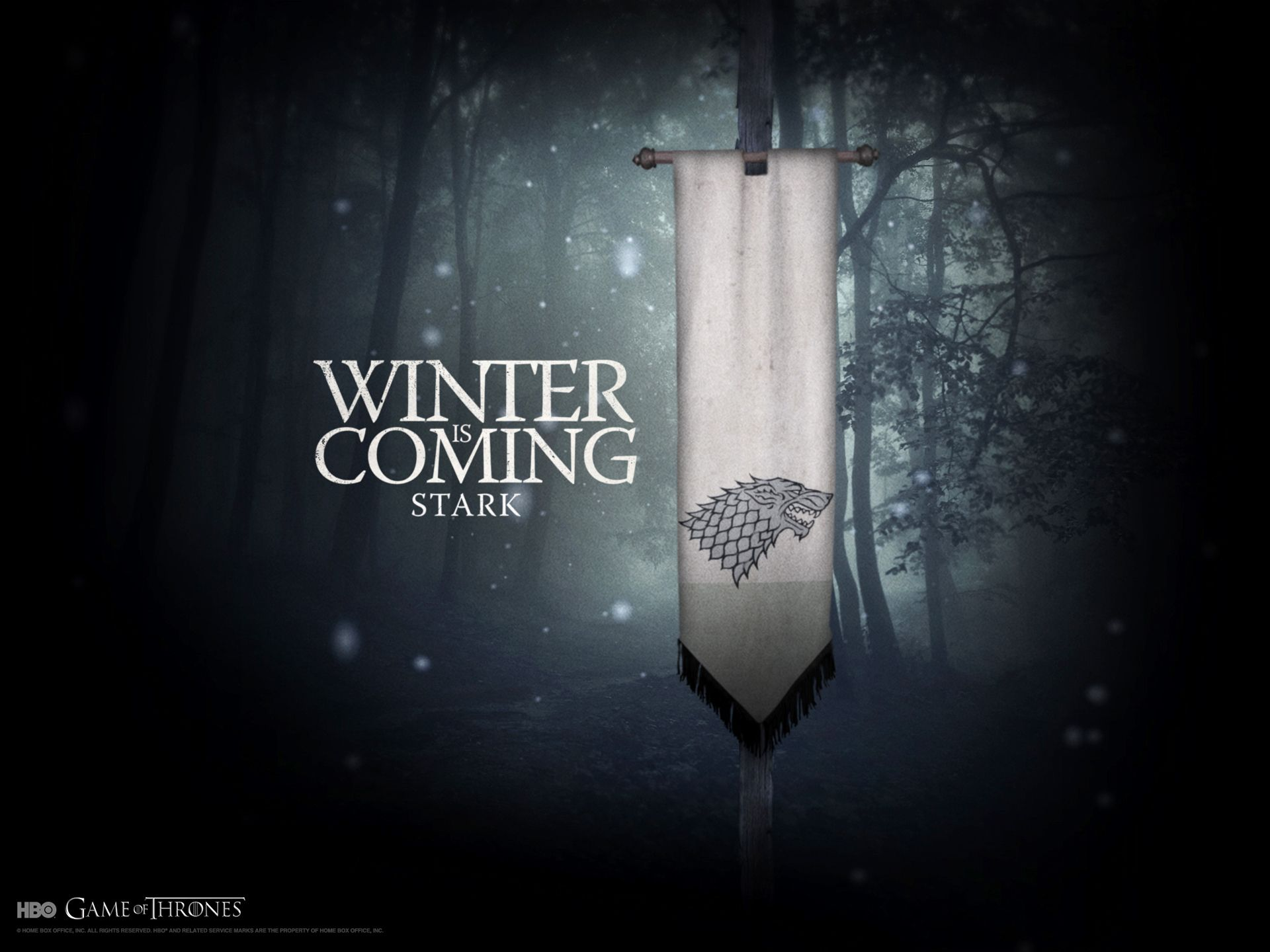 Game Of Thrones Wallpaper House Stark Game Of Thrones Winter Game Of Thrones Poster Hbo Game Of Thrones