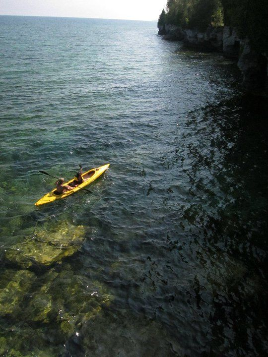 Kayaking At Cave Point Take A Tour Or Bring Your Own Kayak Kayaking Door County Tours