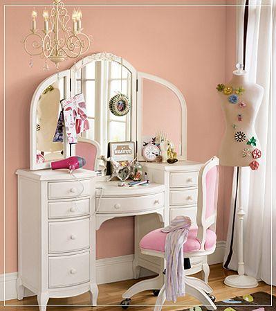Tocador elegante para dormiotiros femeninos1 habitaci n for Espejo grande dormitorio