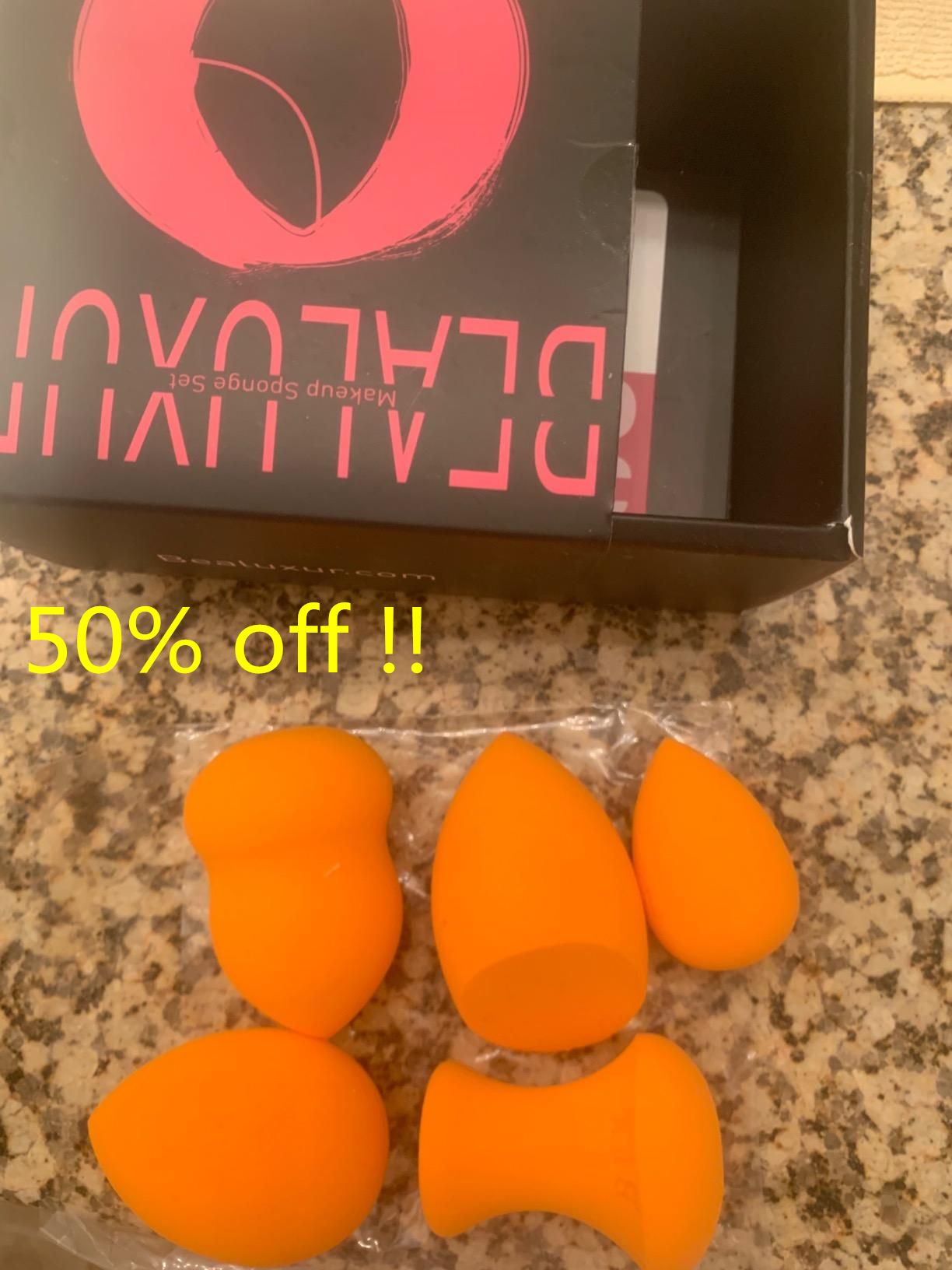 50 OFF!! Multi Shape Makeup Blender Sponges (5pcs) . .