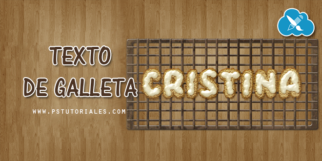 Texto de galleta con Photoshop | PS Tutoriales