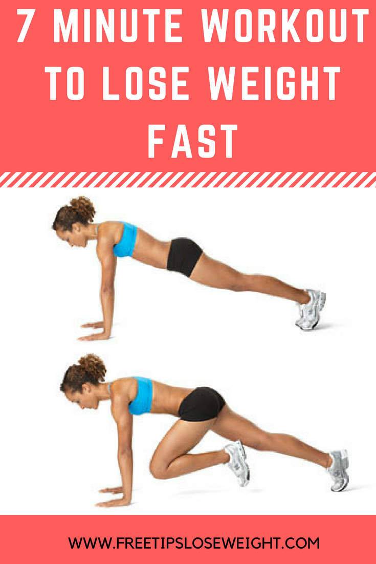 7 Minute Workout to lose weight fast, burn fat and tone your