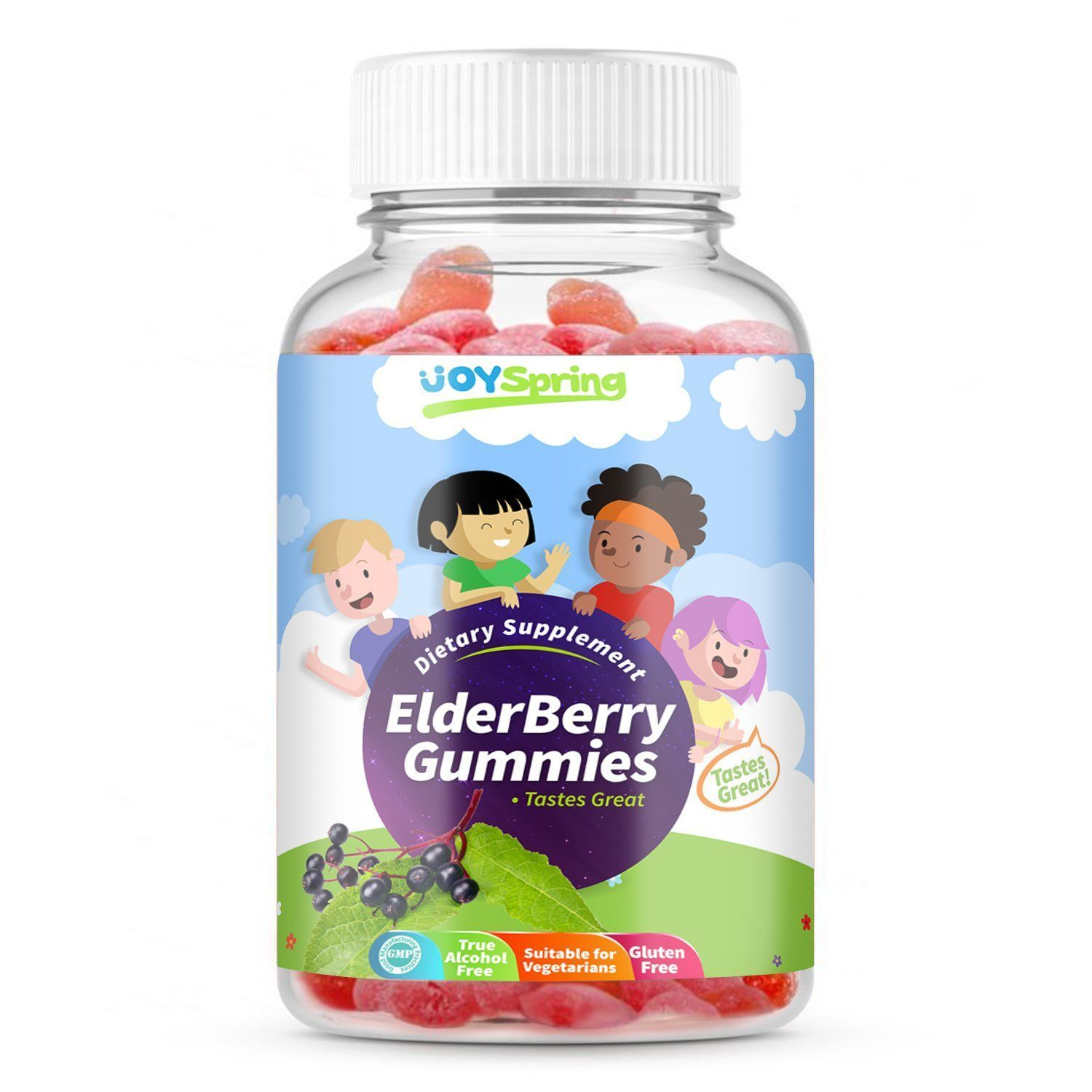 Elderberry Gummies Vitamins for kids, Elderberry gummies