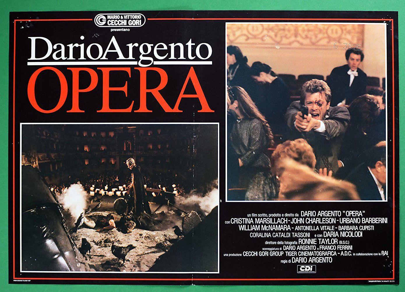 Opera 1987 Dario Argento Cristina Marsillach-MOVIE POSTER CINEMA FILM ART