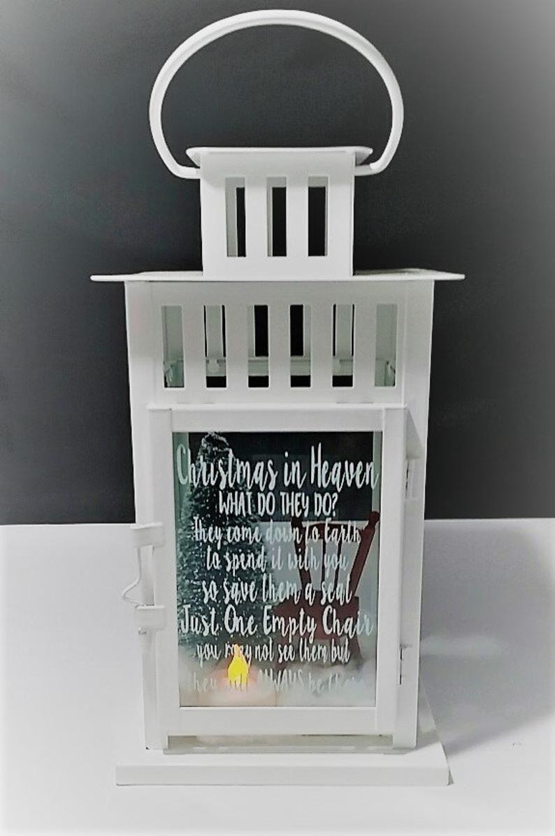 Christmas in heaven lantern christmas memorial