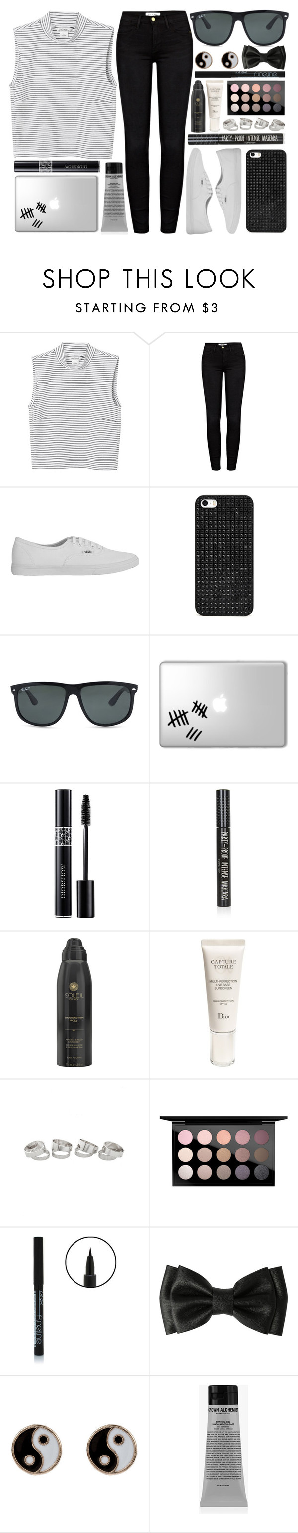 """3000+ LIKES?!?!?"" by onedeetwins ❤ liked on Polyvore featuring Monki, Frame Denim, Vans, BaubleBar, Ray-Ban, Topshop, Soleil Toujours, Christian Dior, MAC Cosmetics and Accessorize"