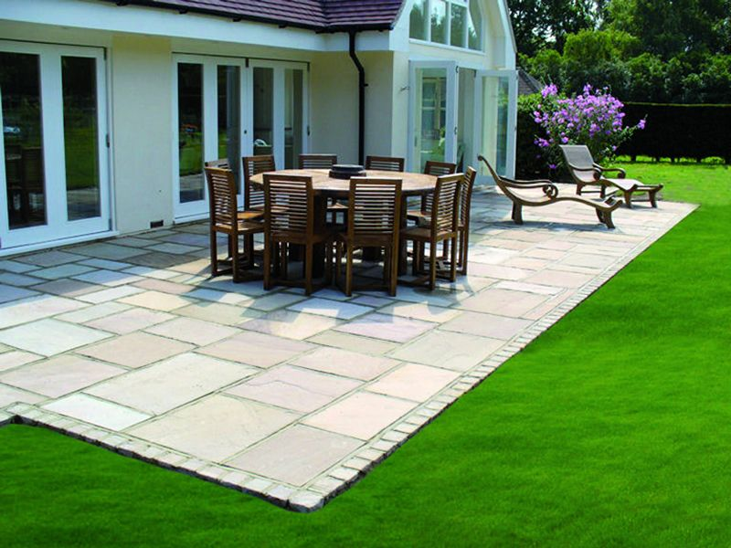 Rippen Sandstone Patio | In the Garden | Pinterest | Patios, Gardens ...