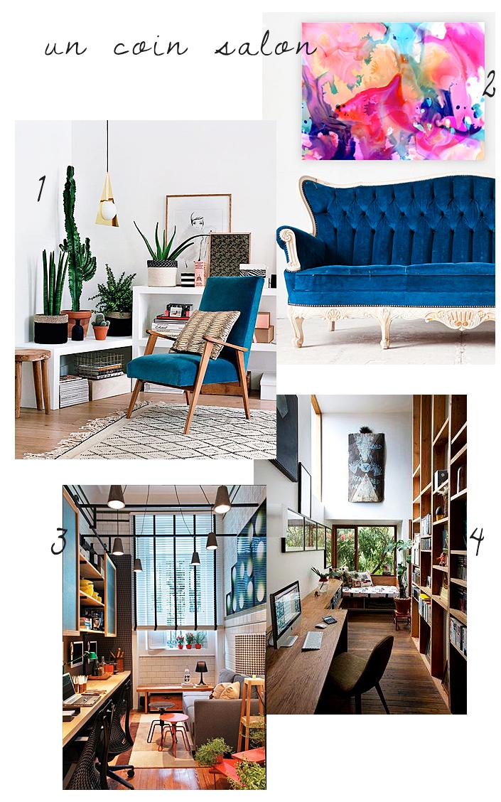 Inspiration Coin Bureau Un Petit Espace Salon Pour Pouvoir