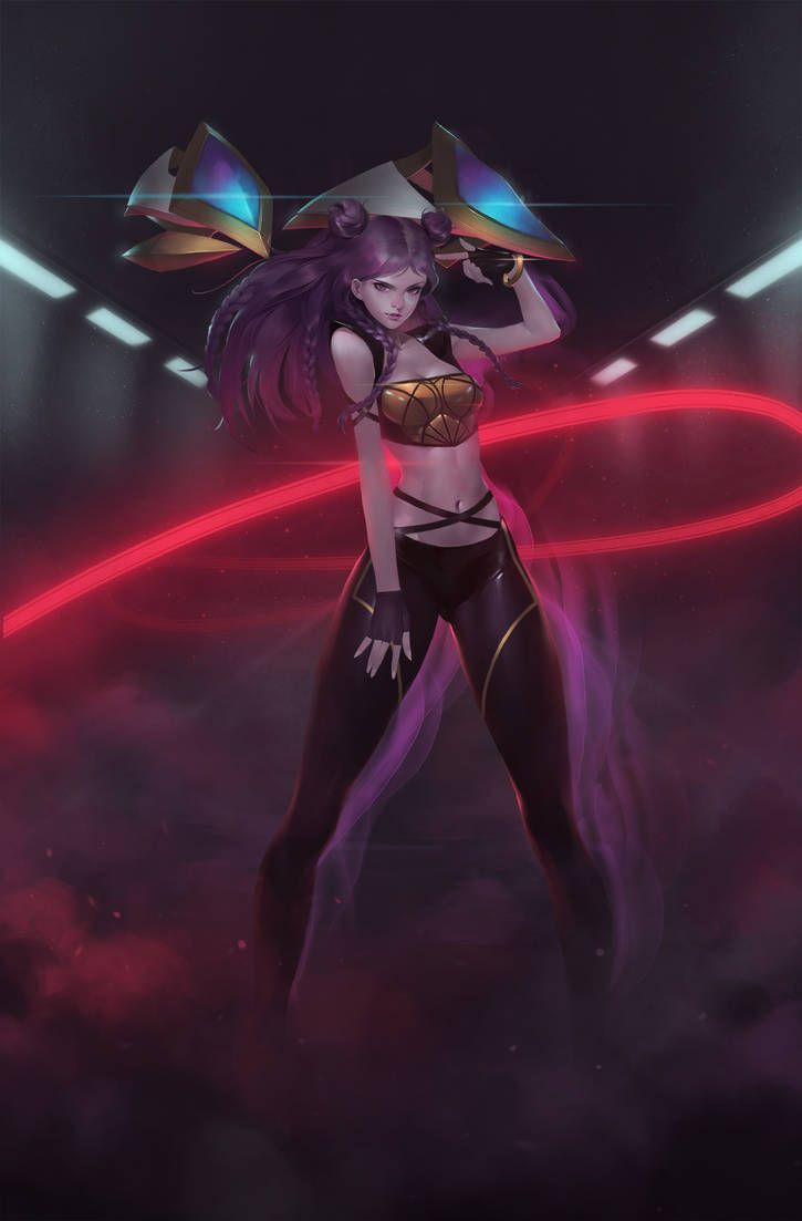 Kda Kaisa By Midfinger Lol League Of Legends League Of Legends League Of Legends Characters