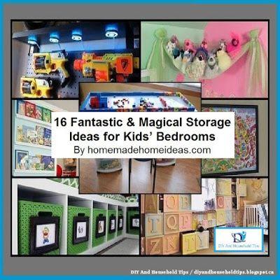 Beau DIY And Household Tips: 16 Fantastic U0026 Magical Storage Ideas For Kidsu0027 Bed.