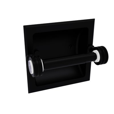 Darby Home Co Deann Dotted Accents Recessed Toilet Paper Holder Finish Matte Black In 2020 Recessed Toilet Paper Holder Pedestal Toilet Paper Holder Wall Mounted Toilet