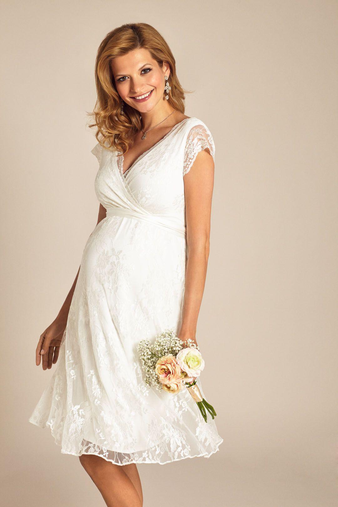Heiraten mit Babybauch im Hochzeitskleid für Schwangere von