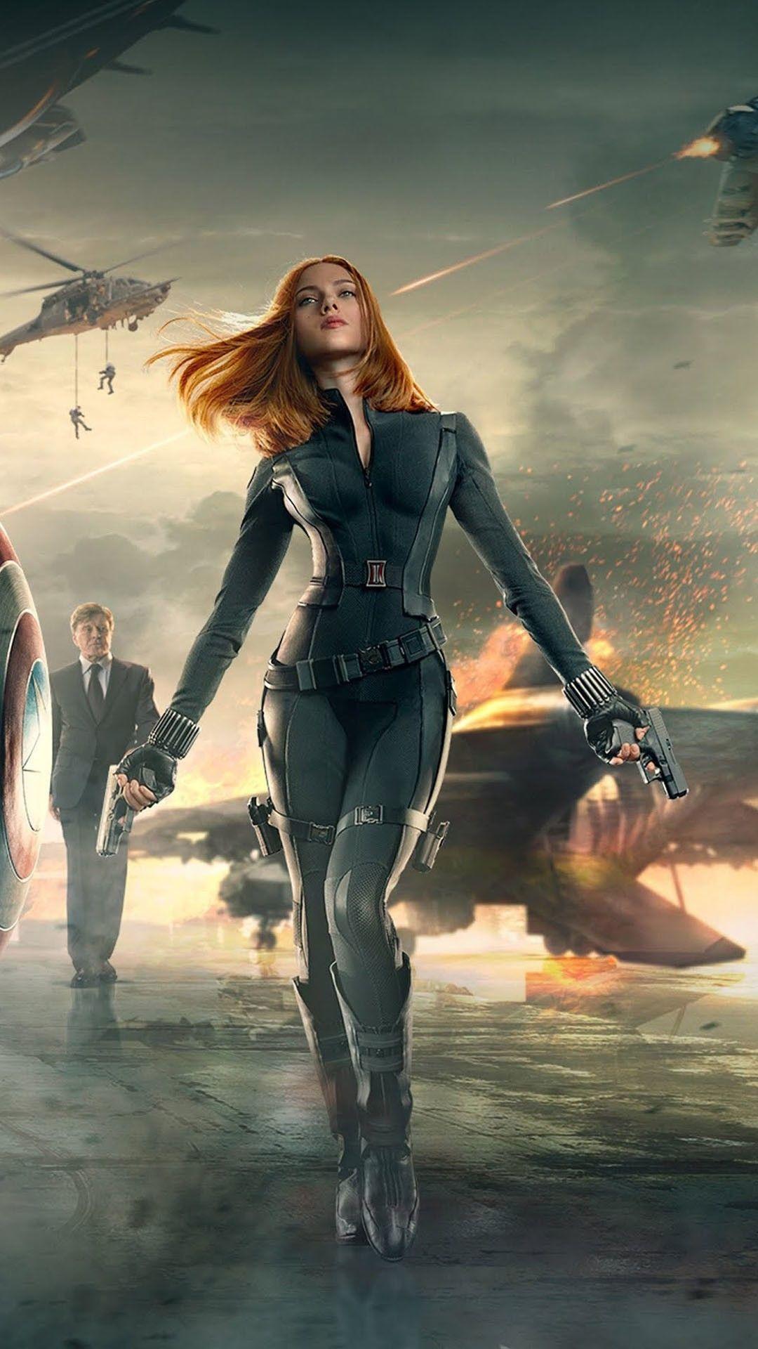 Natasha Romanova Black Widow Captain America 2 Smartphone Wallpaper