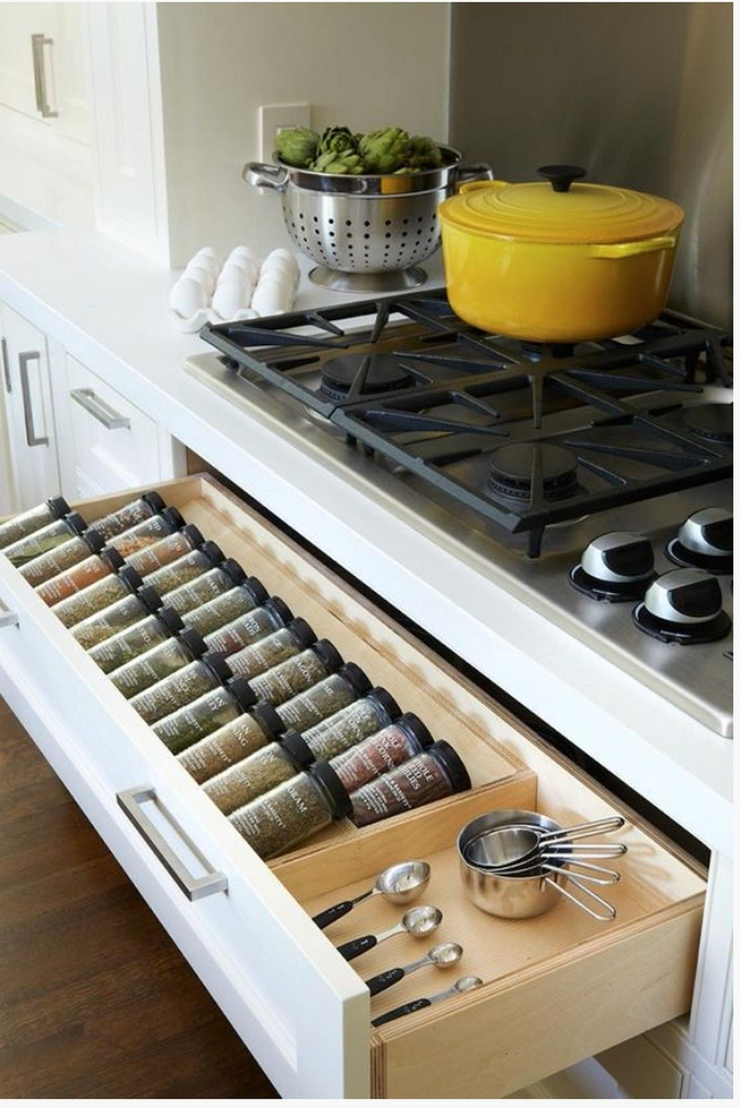 29 Creative Hidden Kitchen Storage Solutions #kitchenstorage