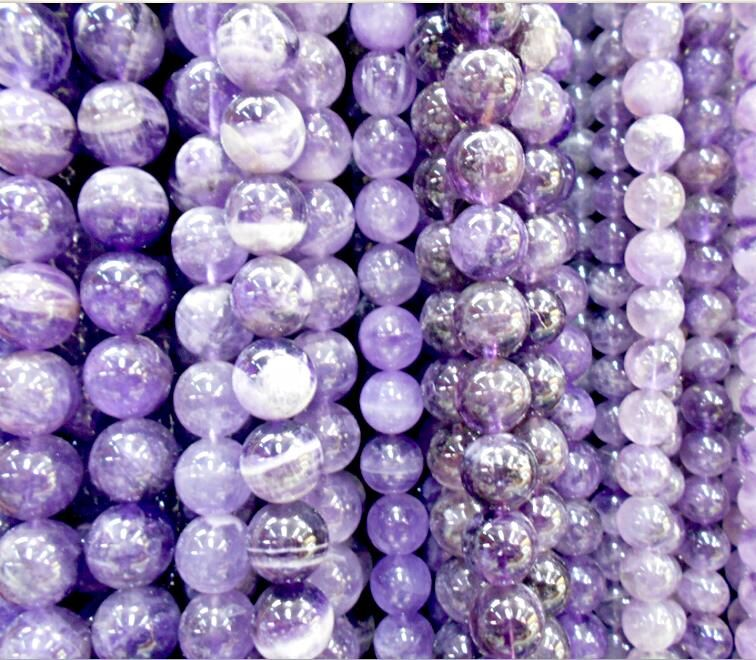 Jewelry & Accessories Beads & Jewelry Making Free Shipping 6 8 10mm Natural Stone Beads Bracelet Round Bosi Stone Purple Color For Jewelry Making